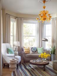 Modern Bay Window Curtains Decorating Dressing A Bay Window By Combining Curtains And Roller Blinds