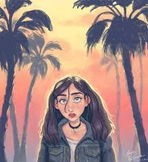 palm tree sketch art
