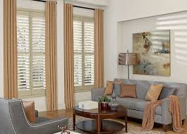 Wooden Blinds With Curtains Custom Real Wood Shutters Budget Blinds