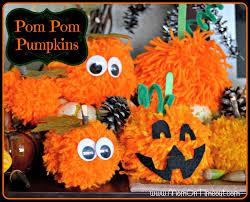halloween decorations for pumpkins pom pom pumpkins kid u0027s halloween craft idea mom on timeout