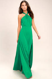 green dress lovely green dress maxi dress halter dress gown 74 00