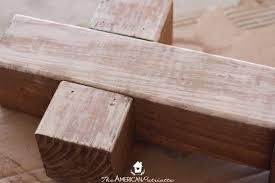 Outdoor Wood Decor Diy Outdoor Wooden Cross Decor The American Patriette