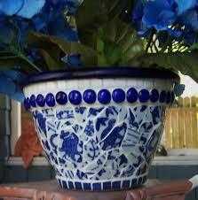 20 mosaic flower pots 瓶中的花油画模板下载 图片编号