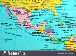 political map of central america and the caribbean political map of central america and the caribbean nations with