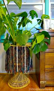 how to fringed wicker plant stand a designer at home