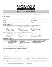 post event report template post event evaluation form sle questions participant report