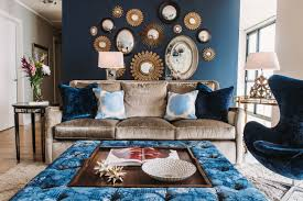 wall decor ideas for small living room living room living room blue theme decoration twin blue color
