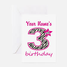 3 year old greeting cards cafepress