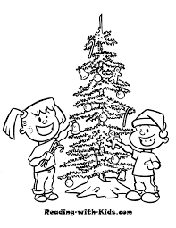 christmas tree coloring pages for kids christmas