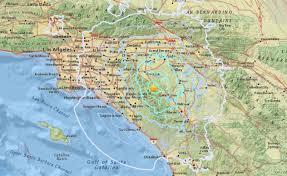 Fountain Valley Map Early Morning Earthquake Felt Across Southern California U2013 Orange