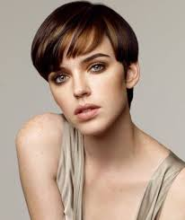 boy cut hairstyles for women over 50 2017 short bowl cut pixie hairstyles with blunt highlighted bangs