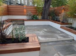 modern london courtyard low maintenance urban outdoor indoor