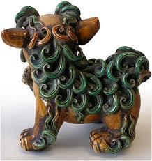 fu dogs for sale 19th century sancai foo dog pair