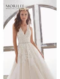 halter neck wedding dresses mori 5513 maryann halterneck gown style with waist detail