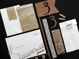 paper invitations giada davide s kraft paper and lace wedding invitations