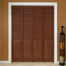 Vinyl Closet Doors Decor Cool Wooden Louvered Closet Doors With White Frame Also