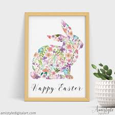 Bunny Rabbit Home Decor 9 Inspirational Spring Wall Art Printables Amistyle Digital Art