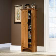 furniture lacquered oak wood cabinet combined brown painted wall