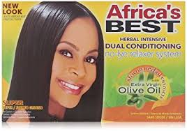 best relaxer for fine african american hair amazon com no lye dual conditioning relaxer system by africa s