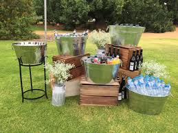 How To Decorate A Backyard Wedding Drinks Station Perfect Idea For An Outdoor Wedding Wedding