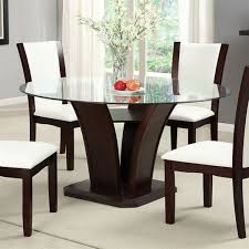 Furniture Of America CMRT Manhattan Round Dining Table With - Black dining table with cherry top