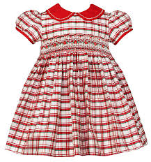 anavini baby toddler plaid smocked miranda silk