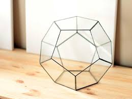large geometric glass terrarium container unique christmas gifts