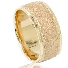 8mm ring size brushed wedding band 10k yellow gold mens 8mm ring size 7 12
