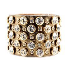 leather bracelet with swarovski crystal images Impero london swarovski crystal gold leather luxury heleni cuff jpg