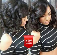 pictures of black ombre body wave curls bob hairstyles short human hair bob wigs for black women side part lace front wig