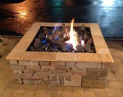 gas log fire pit table custom square outdoor gas log fire pit by fine s gas rustic