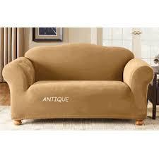 one piece stretch sofa slipcover one piece stretch pique sofa cover