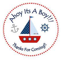 year 2 anniversary giftahoy its a boy personalized ahoy its a boy sailboat sticker birthday sticker