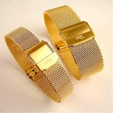 bracelet gold watches images Gilt mesh clasp watch bracelet band jpg