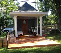 How To Build A Grill Gazebo by The Gazebo And Kitchen Garden On The Poplar Street Side Odell