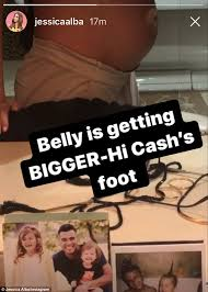Baby Bump Meme - jessica alba displays her growing baby belly on instagram daily