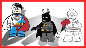 lego batman and robin vs superman epic versus battle coloring