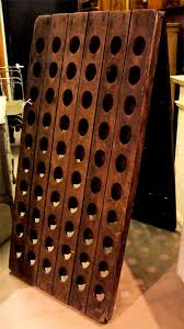 antique french champagne riddling rack sold