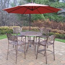 Oakland Living Mississippi Cast Aluminum Best Choice Products Outdoor Wicker Rattan Barrel Side Table Patio