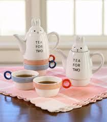 bunny tea set tea set tea for two bunny rabbit shinzi katoh fox and monocle