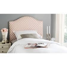 white nailhead headboard safavieh connie peach pink and white full headboard mcr4619h the