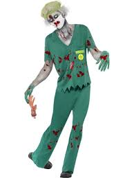 zombie paramedic mens halloween fancy dress doctor nurse horror