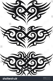 maori tribal tattoo patterns fit shoulder stock vector 95228266