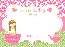free printable tea party invitation template for drevio