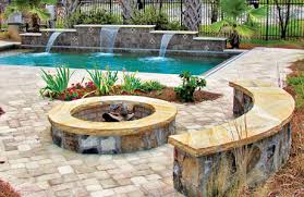 Fire Pit With Water Feature - backyard fire pits to keep you warm by the pool
