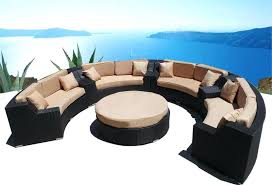 round wicker chair outdoor modern round wicker sectional sofa