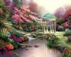 pools of serenity painting thomas kinkade pools of serenity art print