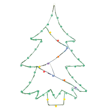 wire christmas tree with lights lighted outdoor decorations lighted large decorations