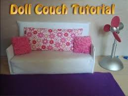 How To Make A Slipcover For A Couch How To Make Doll Couch Tutorial Easy Youtube