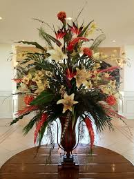 floral arrangement ideas hotel foyer flower arrangements silk floral in hotel lobby